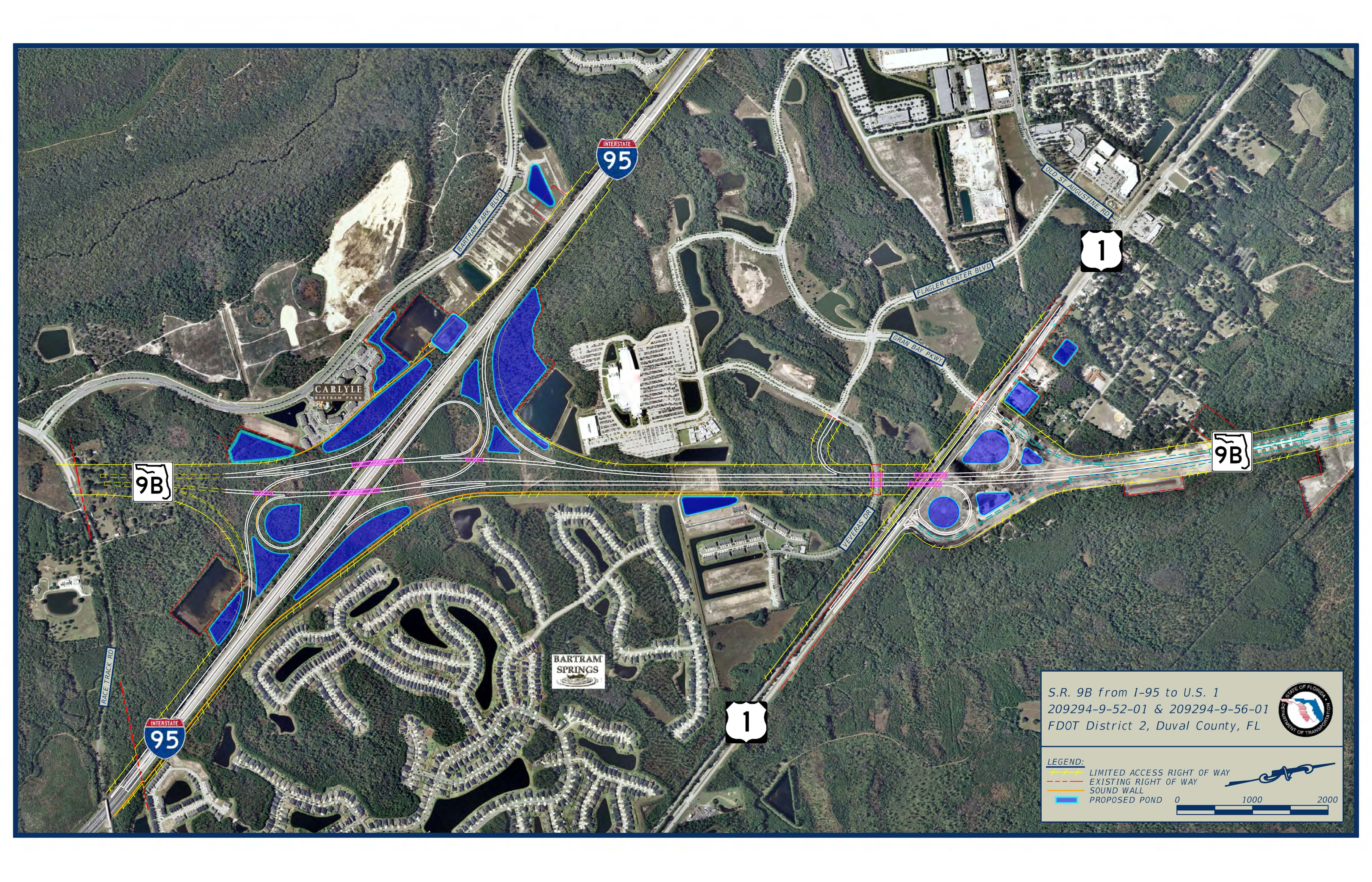 State Road 9B Phase Two Aerial Project Rendering